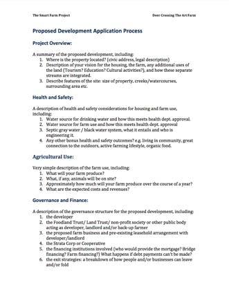Proposed Development Application Process