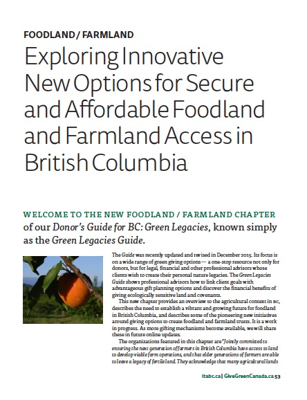 Green Legacies Guide - Farm Folk/City Folk